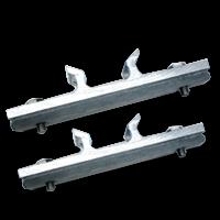 Bordbeugels VARIABEL (set 2 stuks) exclusief RVS klemband bevestiging, paalbevestiging, bordband, bandimex