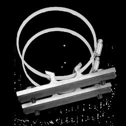 Bordbeugelset VARIABEL - RVS klemband (set 2 stuks) bevestiging, paalbevestiging, bordband, bandit, bandbeugel, lichtmast, lantaarnpaal, bandimex