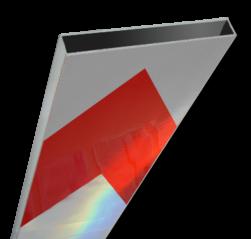 Schrikhekplank 3000mm lang kokerprofiel pijlmotief. RVV BB18-1 hekplank, schrikhek, rood, witte, planken, schrikplank, afzethek, blokken, RVV BB15-2, BB15