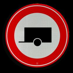 Verkeersbord Gesloten voor motorvoertuigen met aanhangers Verkeersbord RVV C10 - Gesloten voor aanhangers C10 verbodsbord, verboden voor aanhangers, geen aanhangers, verboden, C10, aanhanger, gesloten verklaring, aanhangwagen