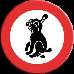 Informatiebord Verboden hond uit te laten Informatiebord hond A hondepoep, niet poepen, hondepoepbordjes, hondestront, hondenborden, hondenverbod