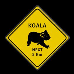Verkeersbord Australie - KOALAS Koala