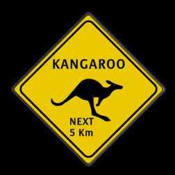 Verkeersbord Australie - KANGAROOS Kangaroo, skippy