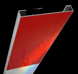 Schrikhekplank 2000mm lang C-profiel blokmotief.RVV BB16-1 hekplank, schrikhek, rood, witte, planken, schrikplank, afzethek, blokken, RVV BB15-2, BB15