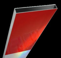 Schrikhekplank 1500mm lang kokerprofiel blokmotief. RVV BB16-1 hekplank, schrikhek, rood, witte, planken, schrikplank, afzethek, blokken, RVV BB15-2, BB15