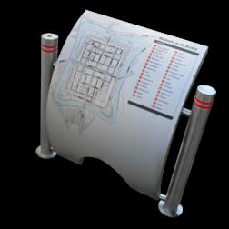 RVS plattegrondborden Elburg plattegrondbord, elburg, rvs, luxe, speciale borden, design