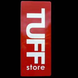 TUFF store logobord ALU-DOR emaille, stoer bord, blank lak, speciale borden