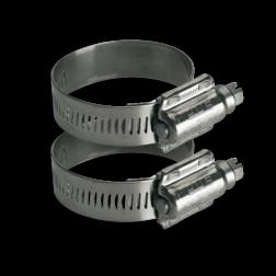 RVS klembanden - Variabele diameter - Set 2 stuks RVS klemband, bevestigingsmateriaal, banditbeugel, bandbeugel, lantaarnpaal, klemband, bandimex