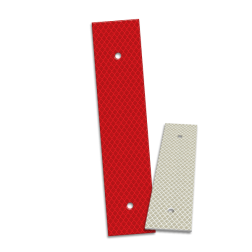 Bermpaalreflector alu 40x180mm reflector, versperring, parkeerterrein, bermpaal, reflectorpaal