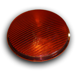 Lens polycarbonaat verkeerslicht (VKL)  rood stoplicht