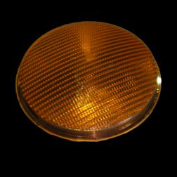 Lens polycarbonaat verkeerslicht (VKL) geel/oranje stoplicht