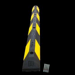 Parkeerplaatsstop 900x150x100mm geel/zwart varkensrug, parkeerplaatsstopper, drempel, biggerug, biggenruggen, parkeerplaats einde