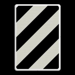 Verkeersbord Verkorte of versmalde uitvoegstrook Verkeersbord RVV BB04 Verkorte uitvoegstrook BB04