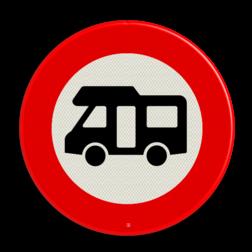 Verkeersbord Gesloten voor campers Verkeersbord RVV C06_1 camper verbodsbord, verboden voor camper, sleurhut, verboden, c6