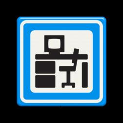 Verkeersbord Kantoorpand Verkeersbord RVV BW101_bureau AVK brandevents