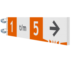 Naambord 700x150x15mm Alum. koker EZ Verwijsbord, route