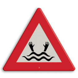 Informatiebord Drenkeling BE (Dit pictogram wordt in België gebruikt om een drenkeling aan te duiden) Informatiebord - drenkeling (België) belgie, gevaar, drijfzand,