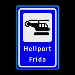 Verkeersbord Routebord weegnet.nl Verkeersbord  heliport - 3 txt helicopter, h, heliport
