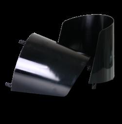 Zonnekap polycarbonaat zwart steunen, verkeerslicht, zelisko, futurit, onderdeel