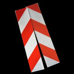Containermarkering rood/wit klasse 2 (set 2 stuks / 1 zijde) Container, markering, containermarkering, attentieverhogend, opvallend