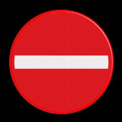Verkeersbord Eenrichtingsweg, in deze richting gesloten voor voertuigen, ruiters en geleiders van rij- of trekdieren of vee Verkeersbord RVV C1 - BELGIË verboden in te rijden, verbodsbord, niet inrijden, c2