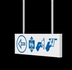 Verwijsbord AL-KOKER - RAL9010 - Voetgangers - 600x200x15mm - Erasmus