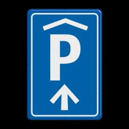 Verkeersbord Parkeerroute / overdekte parkeerplaats voor parkeergarage Oosterdok te Amsterdam - Ontwerp APCOA - GEEN RVV pictogram Verkeersbord RVV BW202_Oosterdok parkeergarage, parkeerplek, parkeerplaats, overdekt parkeren, BW202