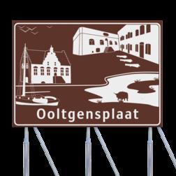 Verwijs logobord 2500x1800mm OOLTGENSPLAAT - Oostflakkee schiphol, mijksenaar, NAP, N.A.P.