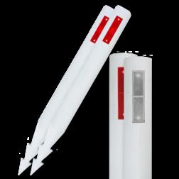 Bermpaal HARPOEN 1100x105mm kunststof + reflector reflector palen, berm, afzetpaal, bermreflector, reflectorpaaltje