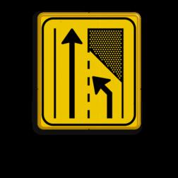 WIU bord T32-2r geel/zwart - zonder ondertekst Tekstbord, WIU bord, tijdelijke verkeersmaatregelen, werk langs de weg, omleidingsborden, tijdelijk bord, werk in uitvoering, 3 regelig bord