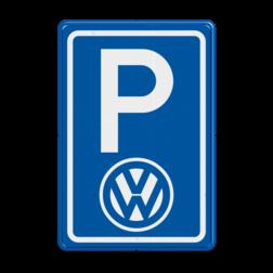 Parkeerbord type E08 automerk - logo VW stoep, parkeerplek, parkeerplaats, auto, electrisch, E8, volkswagen, logo, v.w.