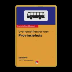 Bushaltebord full-colour - met eigen ontwerp bushalte, haltebord, bus, Informatie, bord, reflecterend, eigen, ontwerp, bus, stop, tijden