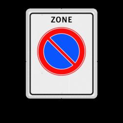 Verkeersbord Start parkeerzone Verkeersbord RVV E01zb - parkeerzone - Start parkeerzone E01zb zone, E1, e01 parkeerverbodszone bord
