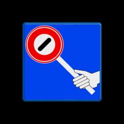 Verkeersbord RVV VR07 - klaar-over klaar-over, verkeersregelaar
