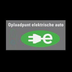Aluminium bordpaneel VLAK 2000x1000x2mm RAL6018 / wit-groen E4 parkeren