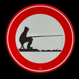 Verkeersbord Verboden te vissen Verkeersbord C01_VISSER soepbord, bellen verboden, mobiele telefoon, uitschakelen, mobiel bellen, verboden, C1