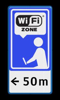 Informatiebord - Wifi-zone verwijzing Wifi Zone, wi fi, zeeuws vlaanderen