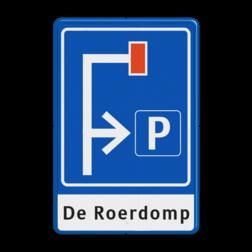 Verkeersbord Doodlopende weg - eigen tekst Verkeersbord RVV L09-4r - E04 + 1 regel txt doodlopende weg, l9, versperring, geen doorgang, vooraanduiding, voorwaarschuwing, geen doorgaande weg
