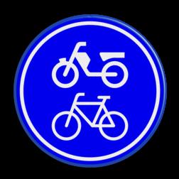 Verkeersbord Verplicht fiets / bromfietspad Verkeersbord RVV G12a - Verplicht fiets / bromfietspad G12a fietsen, bromfietsen, brommer, G12, G12 a, fietspad, bromfietspad