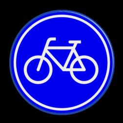 Verkeersbord Verplicht fietspad Verkeersbord RVV G11 - Fietspad G11 fietsen, G11, fietspad, verplicht, fiets