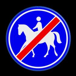 Verkeersbord Einde ruiterpad Verkeersbord RVV G10 - Einde ruiterpad G10 einde, paard, amazone, wandelpad, G10, paardrijden, ruiterpad