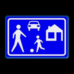 Verkeersbord Woonerf Verkeersbord RVV G05 - Woonerf G05 kinderen, G5, woonerf, erf, woongebied