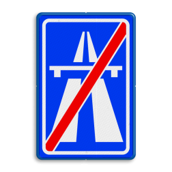 Verkeersbord Einde autosnelweg Verkeersbord RVV G02 - Einde autosnelweg G02 einde snelweg, einde, G2, autosnelweg