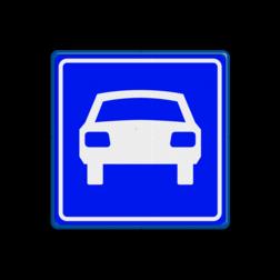 Verkeersbord Autoweg Verkeersbord RVV G03 - Autoweg G03 100 km weg, G3, autoweg