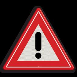 Verkeersbord Algemeen gevaarteken Verkeersbord RVV J37 - Vooraanduiding gevaar J37 gevarendriehoek, uitroepteken, driehoekbord, let op, pas op, J37, waarschuwingsbord