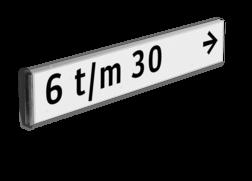 Verwijsbord kokerprofiel +1 kleur opdruk DUBBELZIJDIG verwijsbord, aanwijsbord, binnenbad, open water, vlaggend, tegen paal, anwb bord, zwembad, recreatie, kameleon