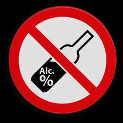 Verbodsbord Verboden alcohol te nuttigen in het openbaar. Verbodsbord - Alcohol verboden drugs, amsterdam, drank, drink verbod