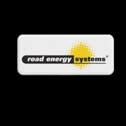 Logobord 400x150x28mm - Road Energy Systems vijfsterrendorpen, 5 sterren,