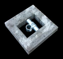 Betonblok 400x400x70 mm voor buis ø48 mm verzwaring
