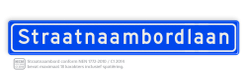 Straatnaambord 18 karakters 1000x150 mm NEN 1772 cadeau, kado, straat, eigen bord, straatnaamborden, straatnaam, straatbord, naambord